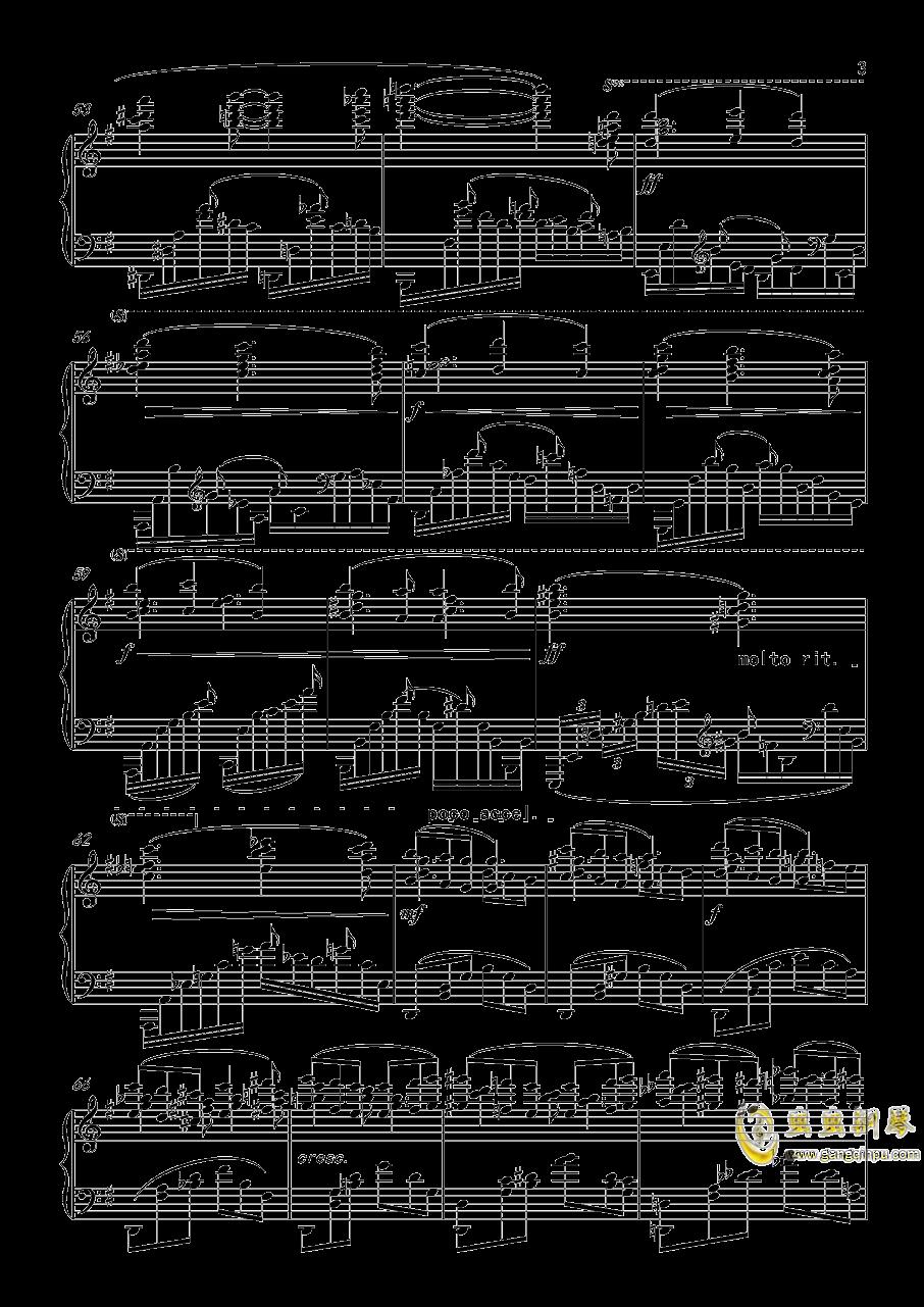 幻想曲,钢琴曲4首,Op3no3钢琴谱 第3页