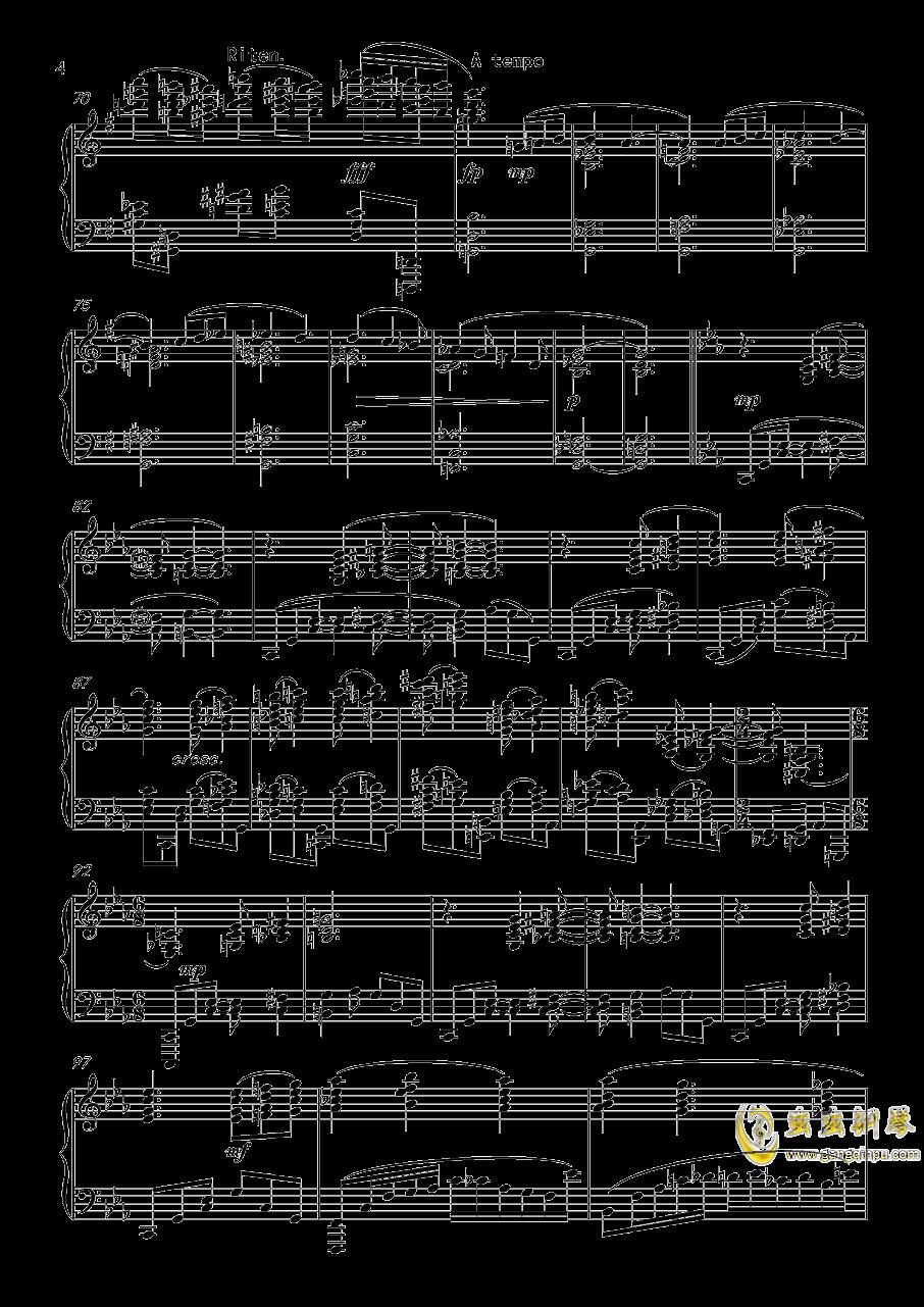 幻想曲,钢琴曲4首,Op3no3钢琴谱 第4页