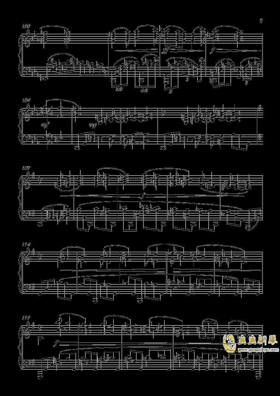幻想曲,钢琴曲4首,Op3no3钢琴谱 第5页