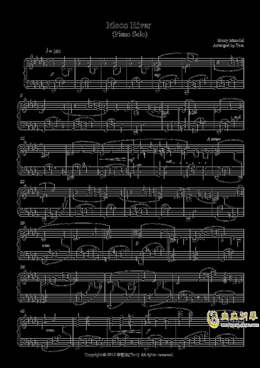 Moon River钢琴谱 第1页