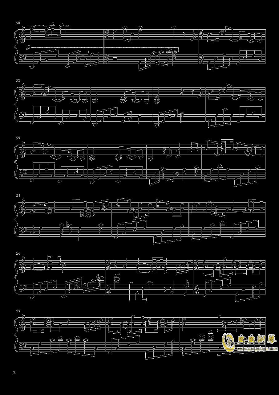 Sad Cafe钢琴谱 第2页
