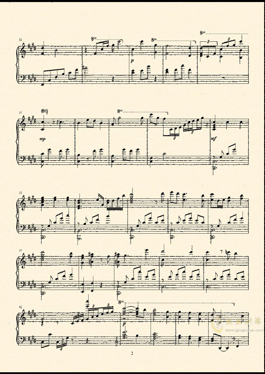 Scarborough Fair钢琴谱 第3页