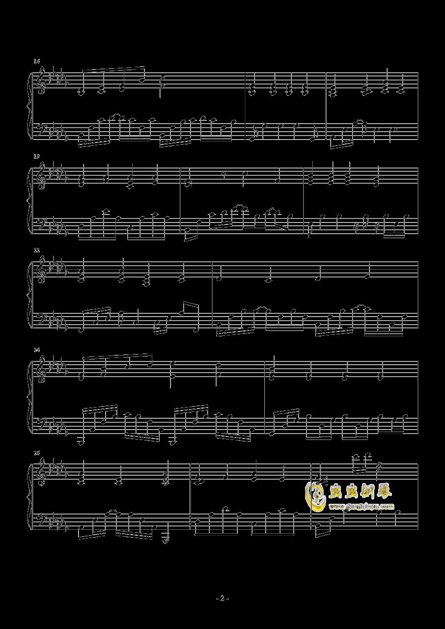 默钢琴谱 第2页