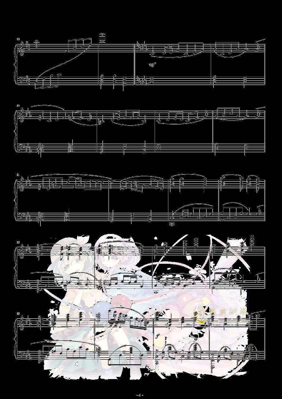 古典风少女觉の3rd eye钢琴谱 第5页