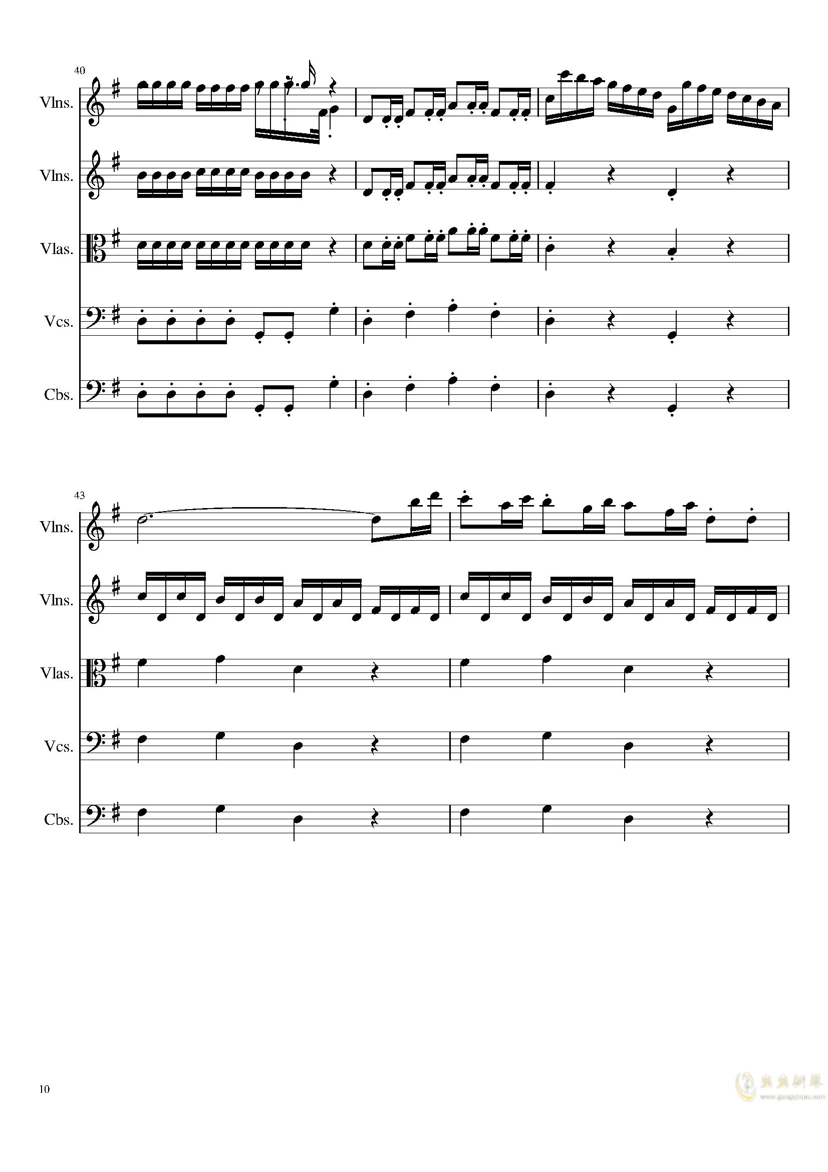 March in C, Op.124b钢琴谱 第10页