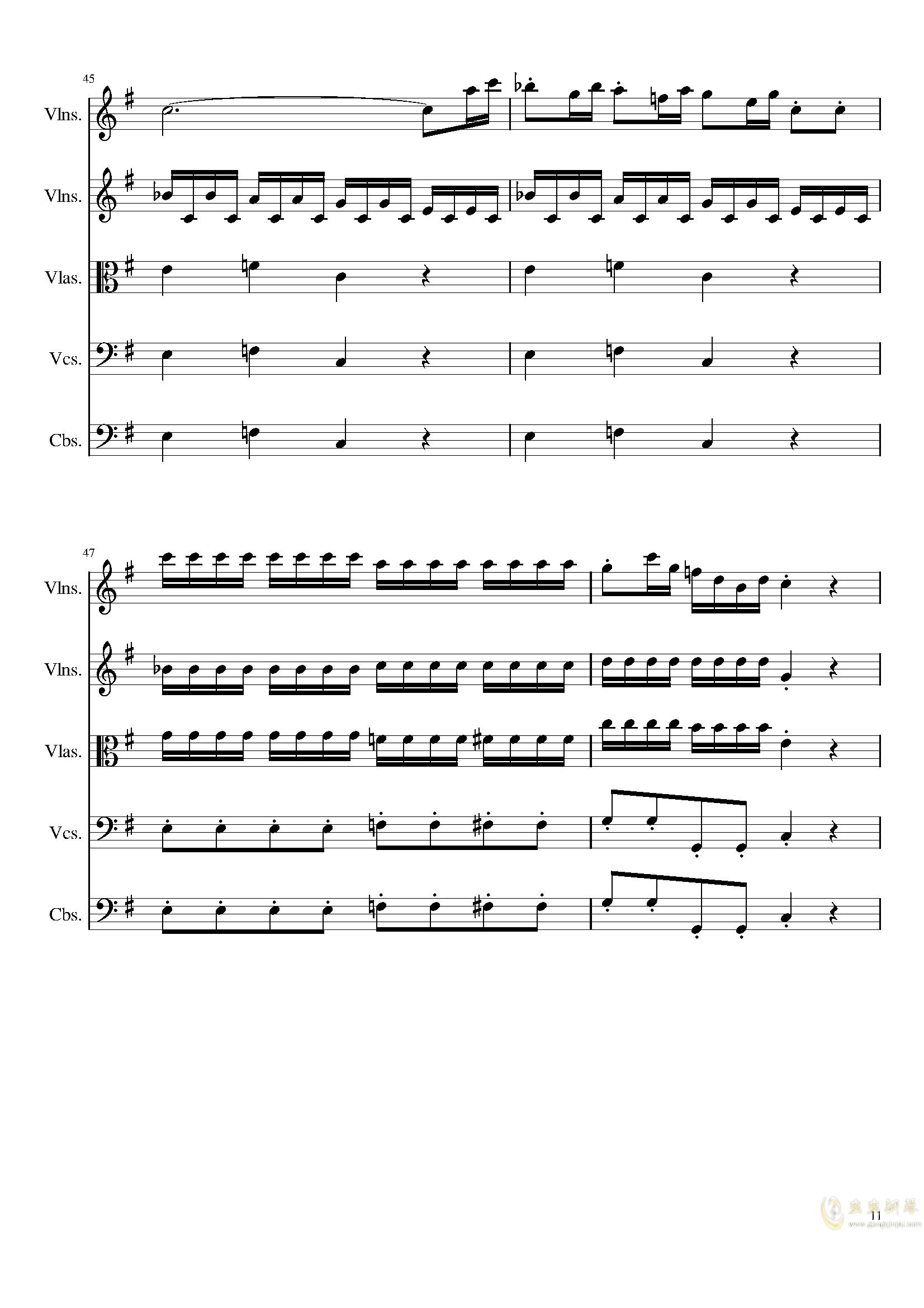 March in C, Op.124b钢琴谱 第11页