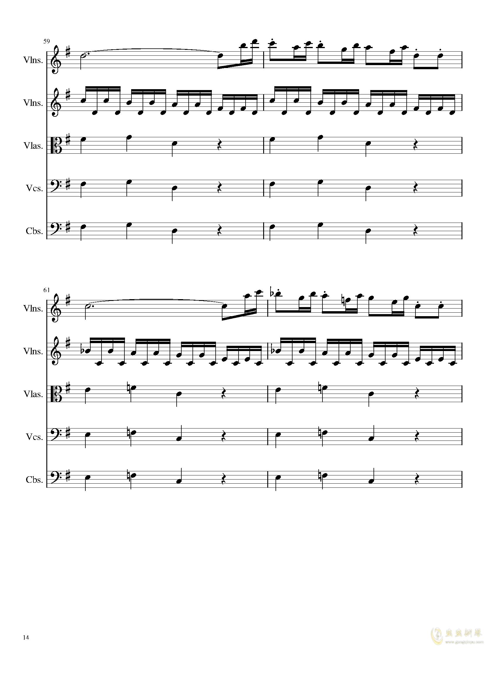 March in C, Op.124b钢琴谱 第14页