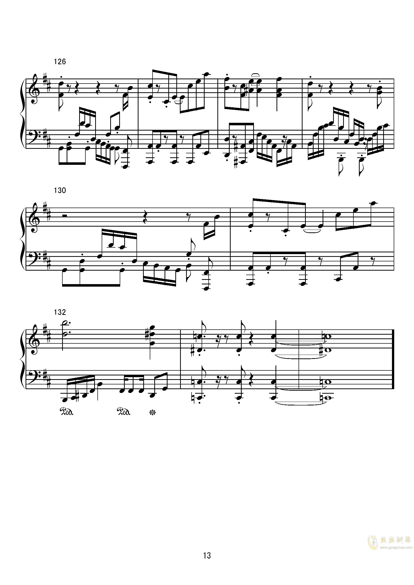 特洛伊群的密林钢琴谱 第13页