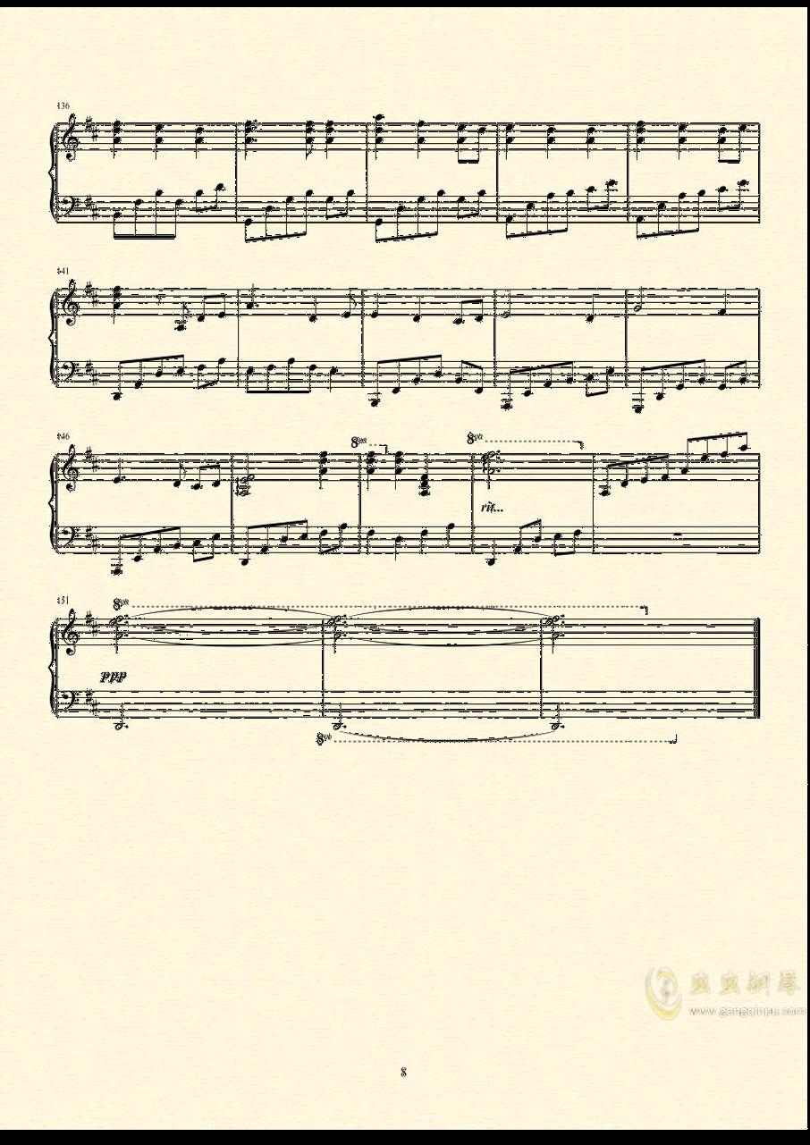 Always in my heart钢琴谱 第9页