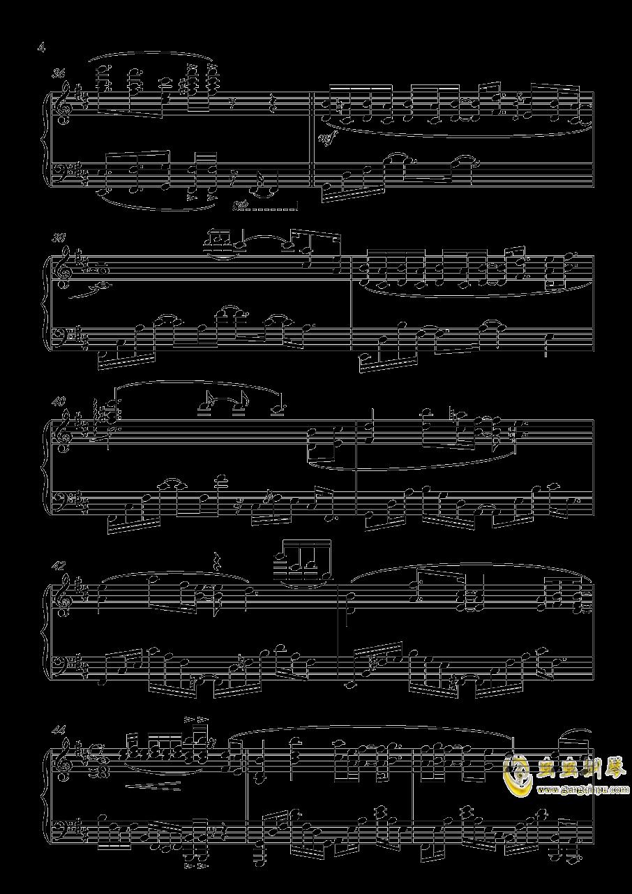 九张机钢琴谱 第4页