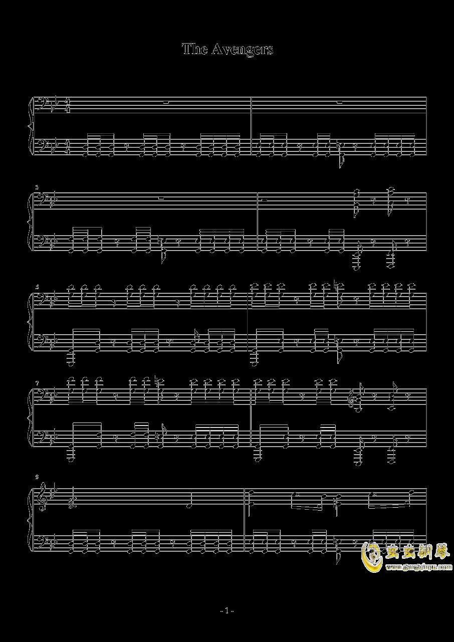The Avengers钢琴谱 第1页