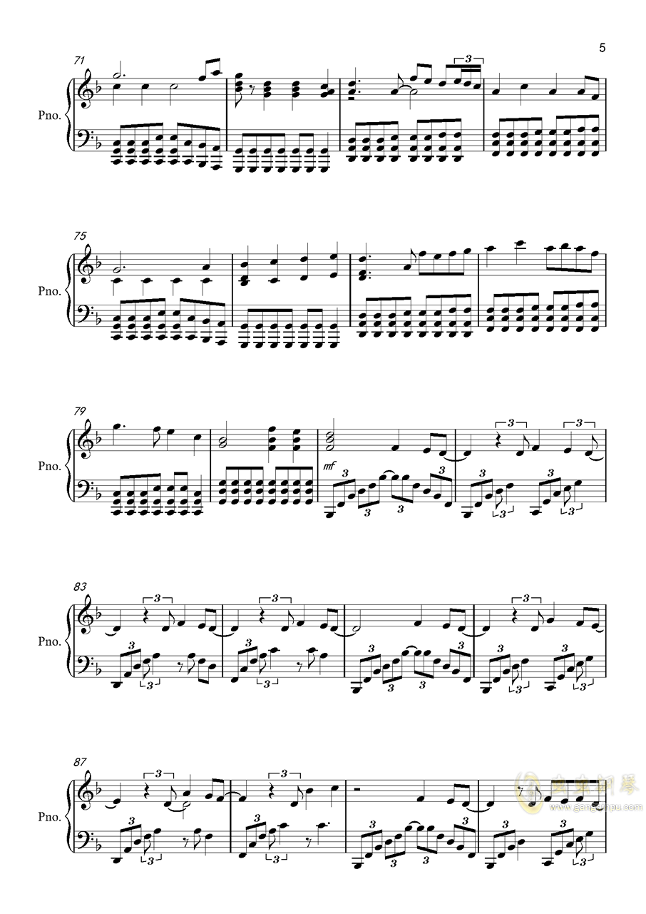 Victory钢琴谱 第5页