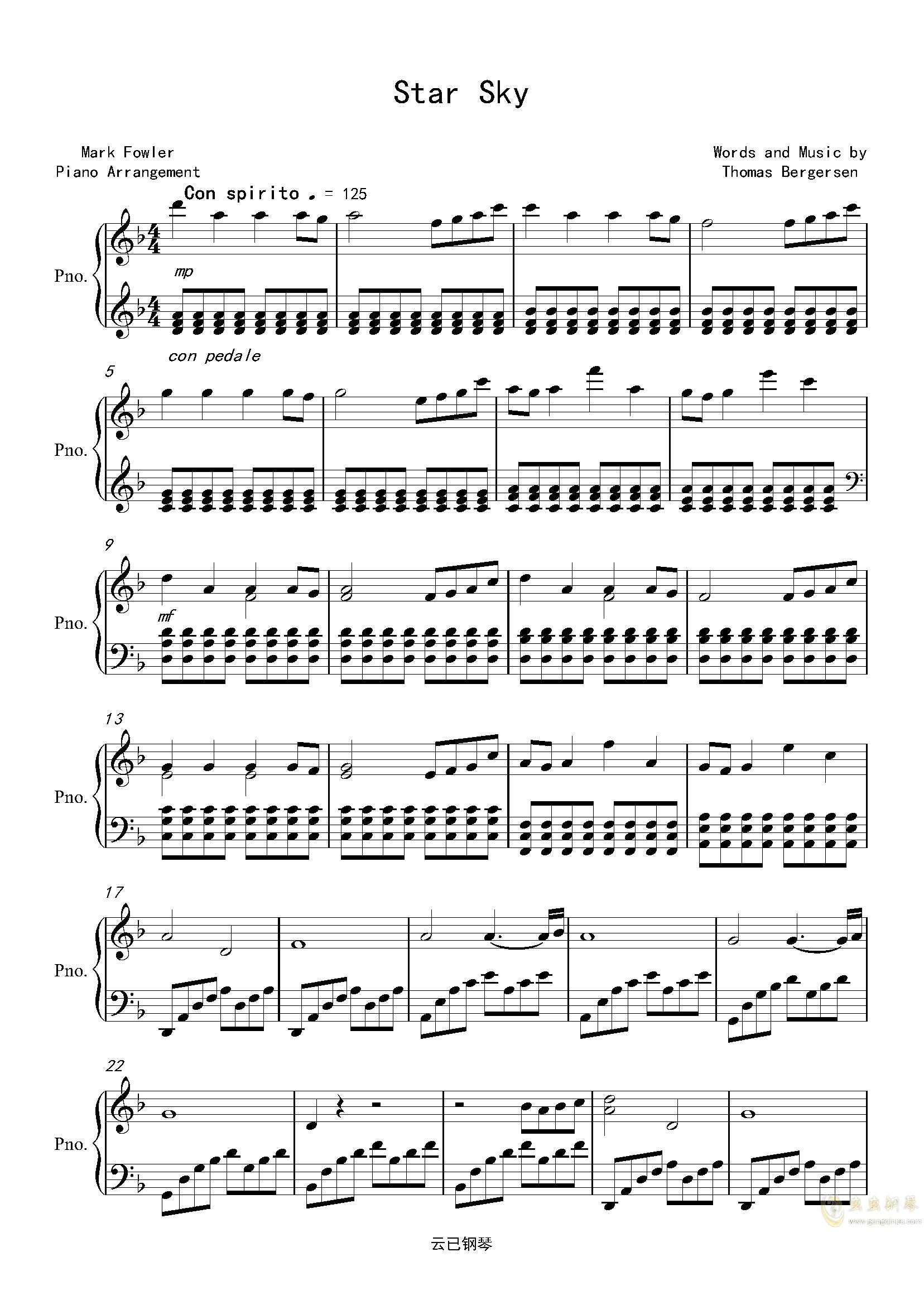 Star Sky钢琴谱 第2页