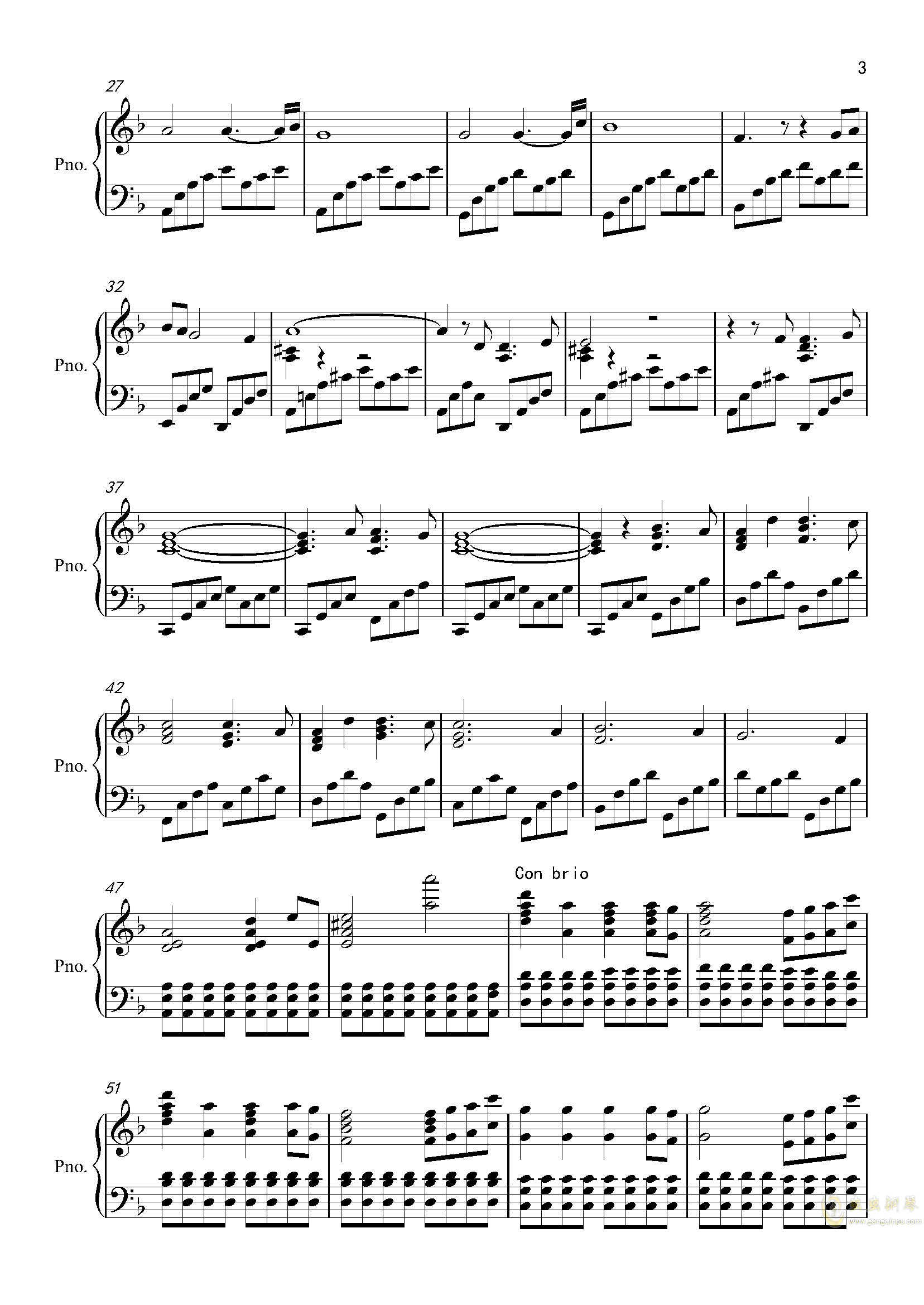 Star Sky钢琴谱 第3页