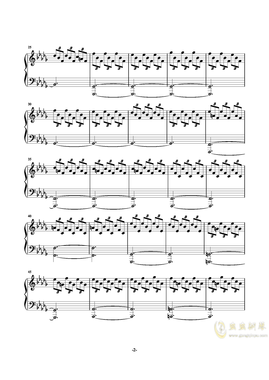 千年の孤独钢琴谱 第2页