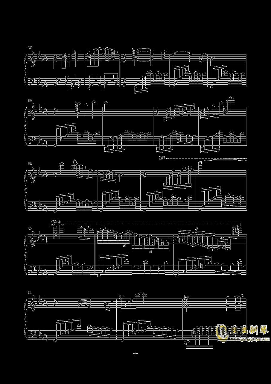 千年の孤独钢琴谱 第4页