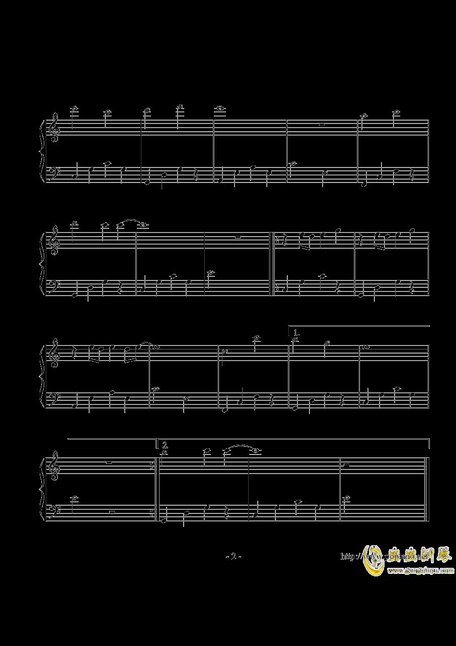 找到你钢琴谱 第2页