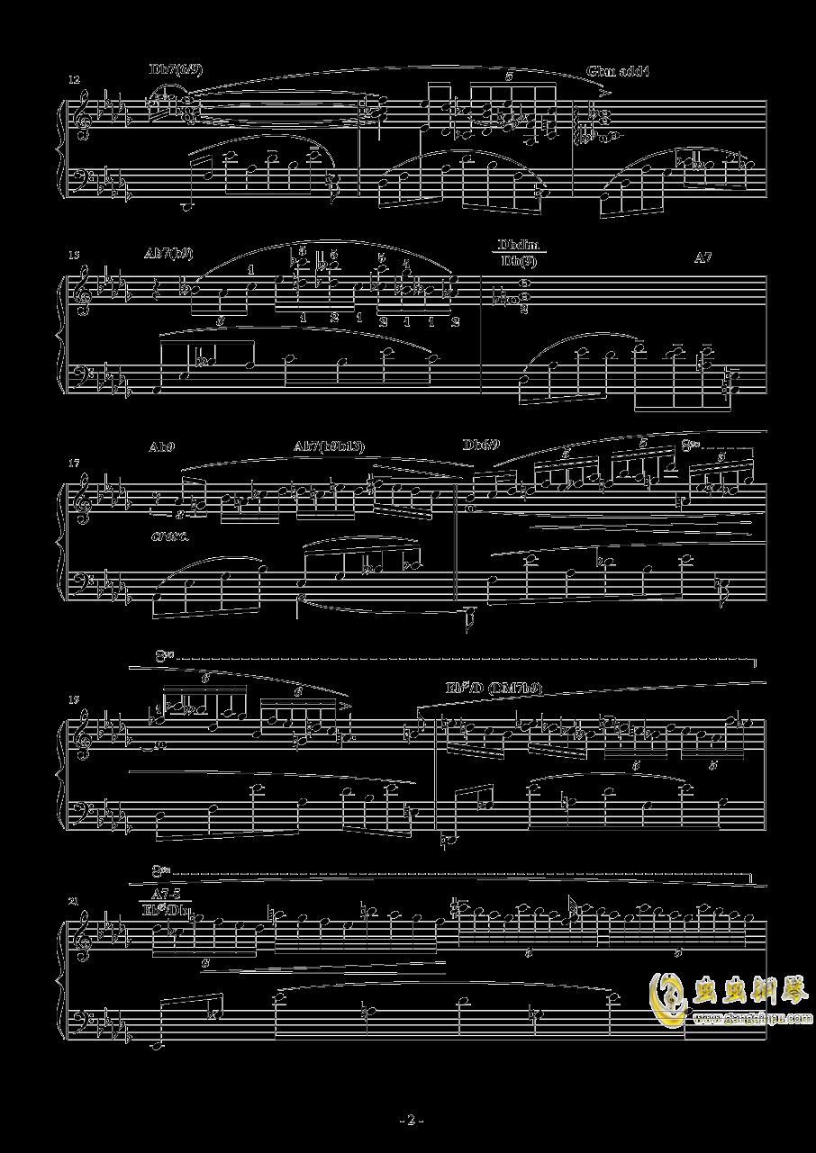 降D大调钢琴谱 第2页