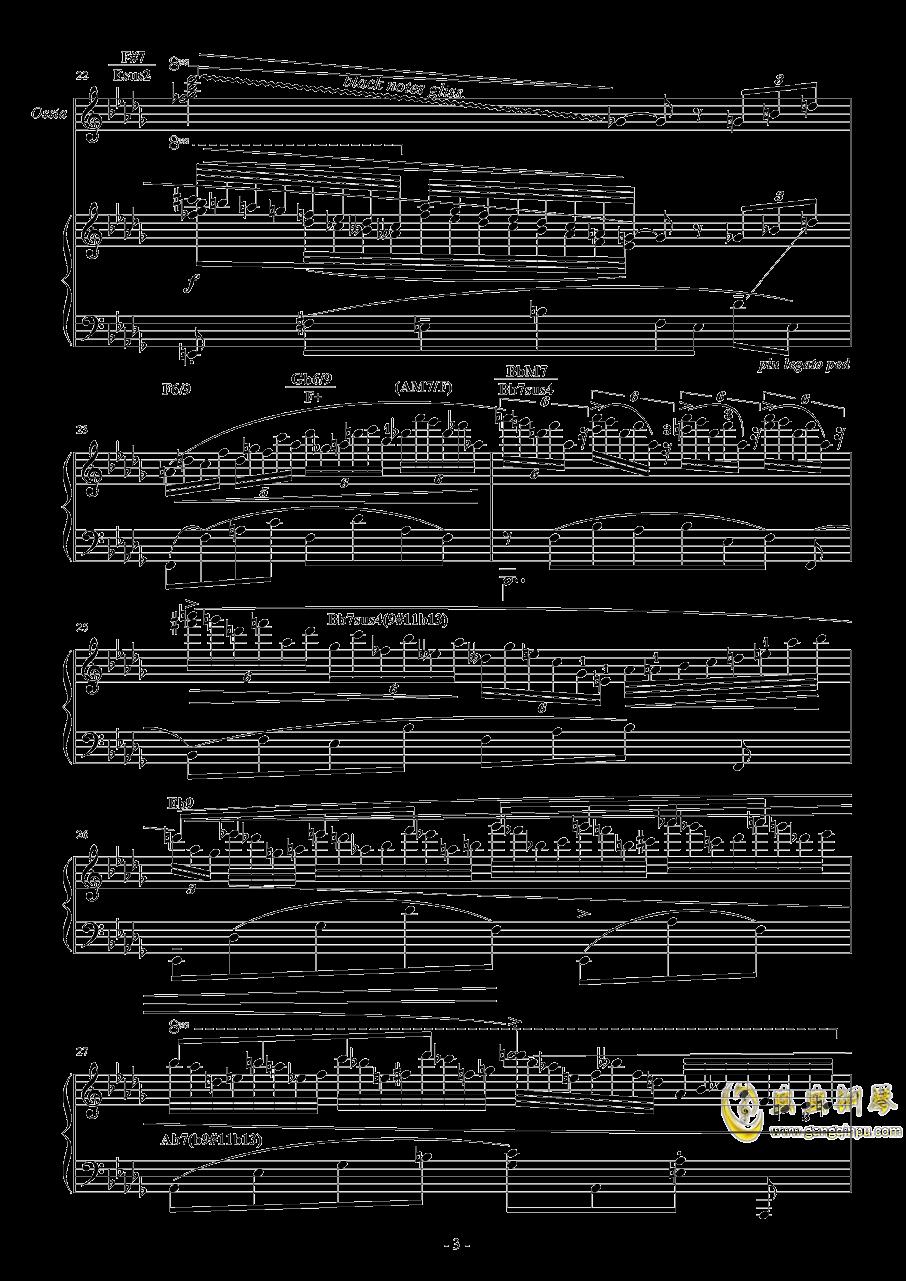 降D大调钢琴谱 第3页