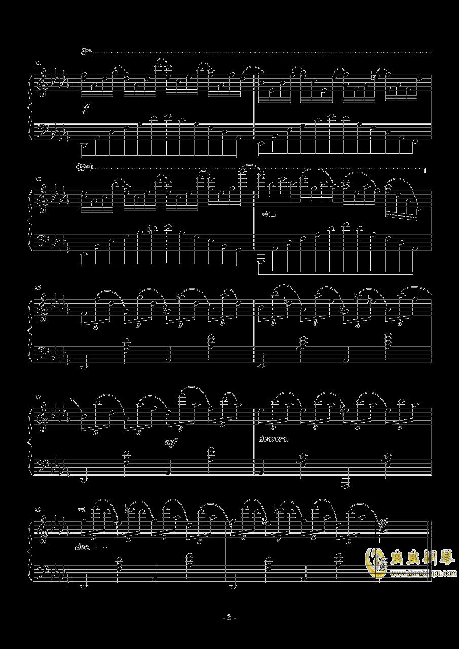 Db大调即兴曲钢琴谱 第3页