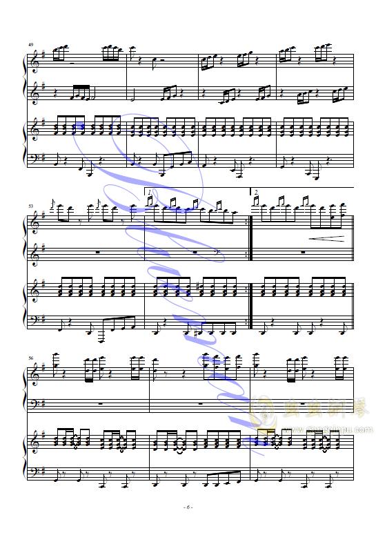 Alla Figaro钢琴谱 第6页