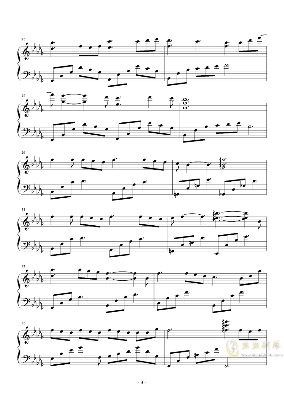 缘起钢琴谱 第3页