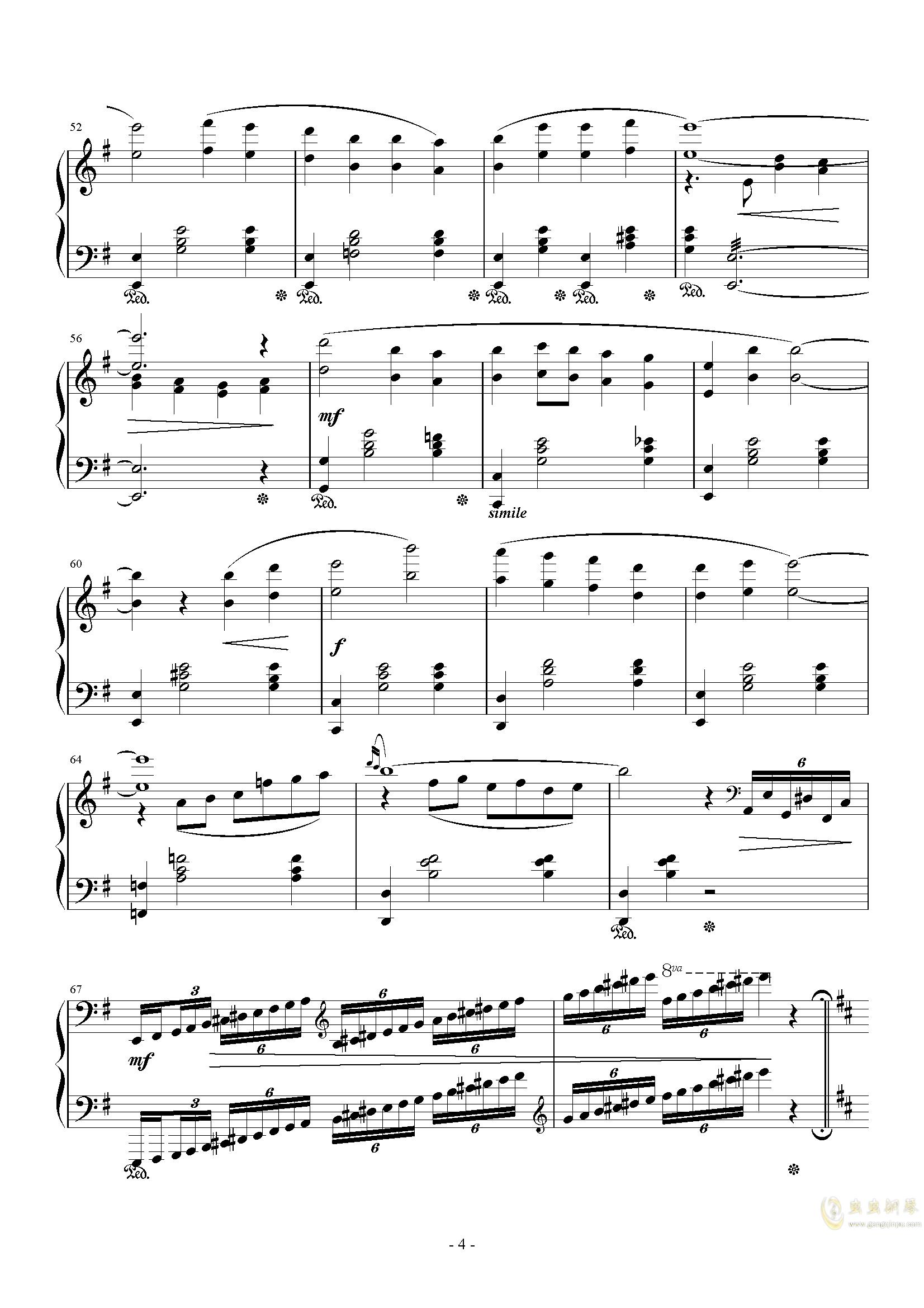 The Oath钢琴谱 第4页