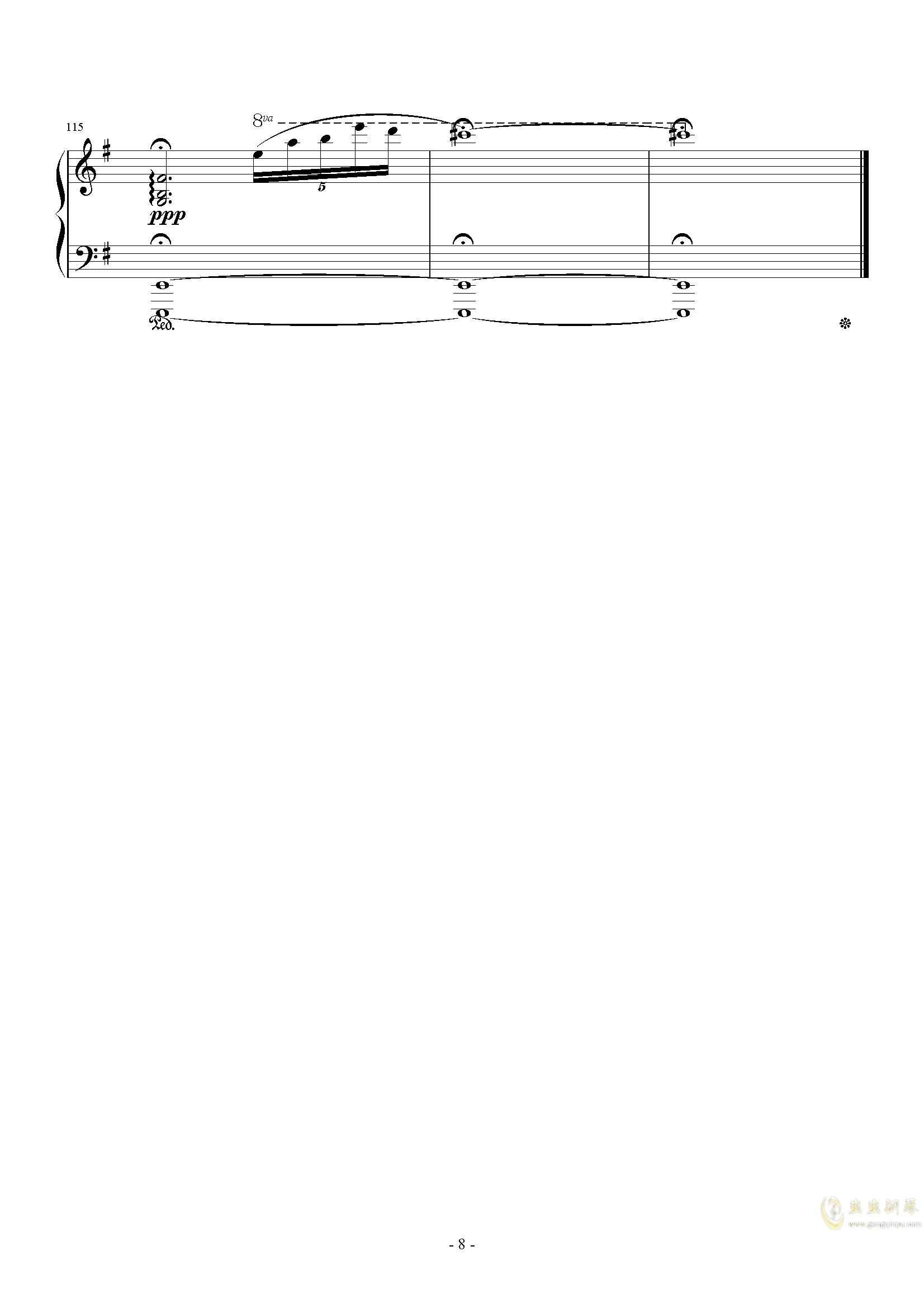 The Oath钢琴谱 第8页