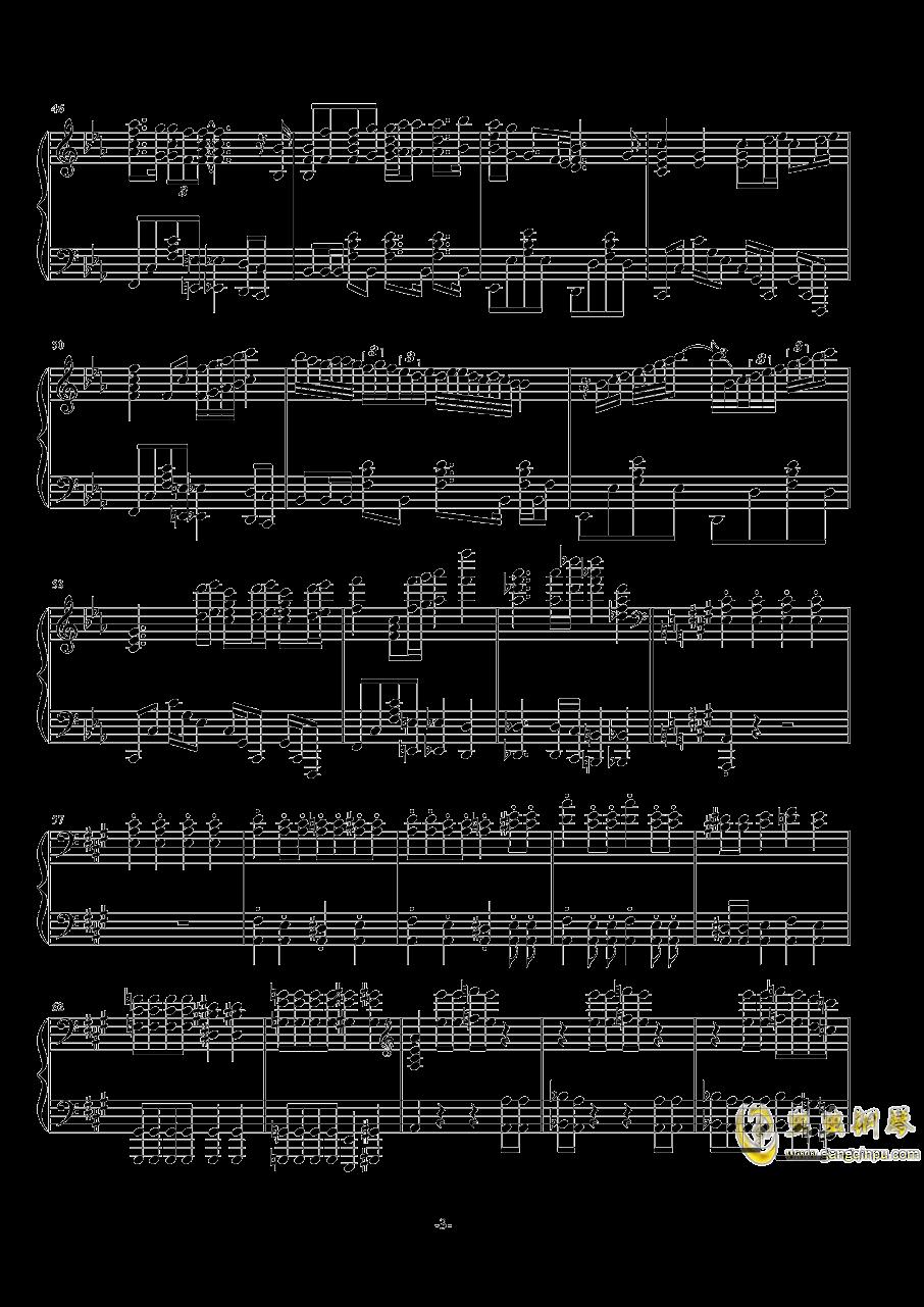 波西米亚狂想曲钢琴谱 第3页