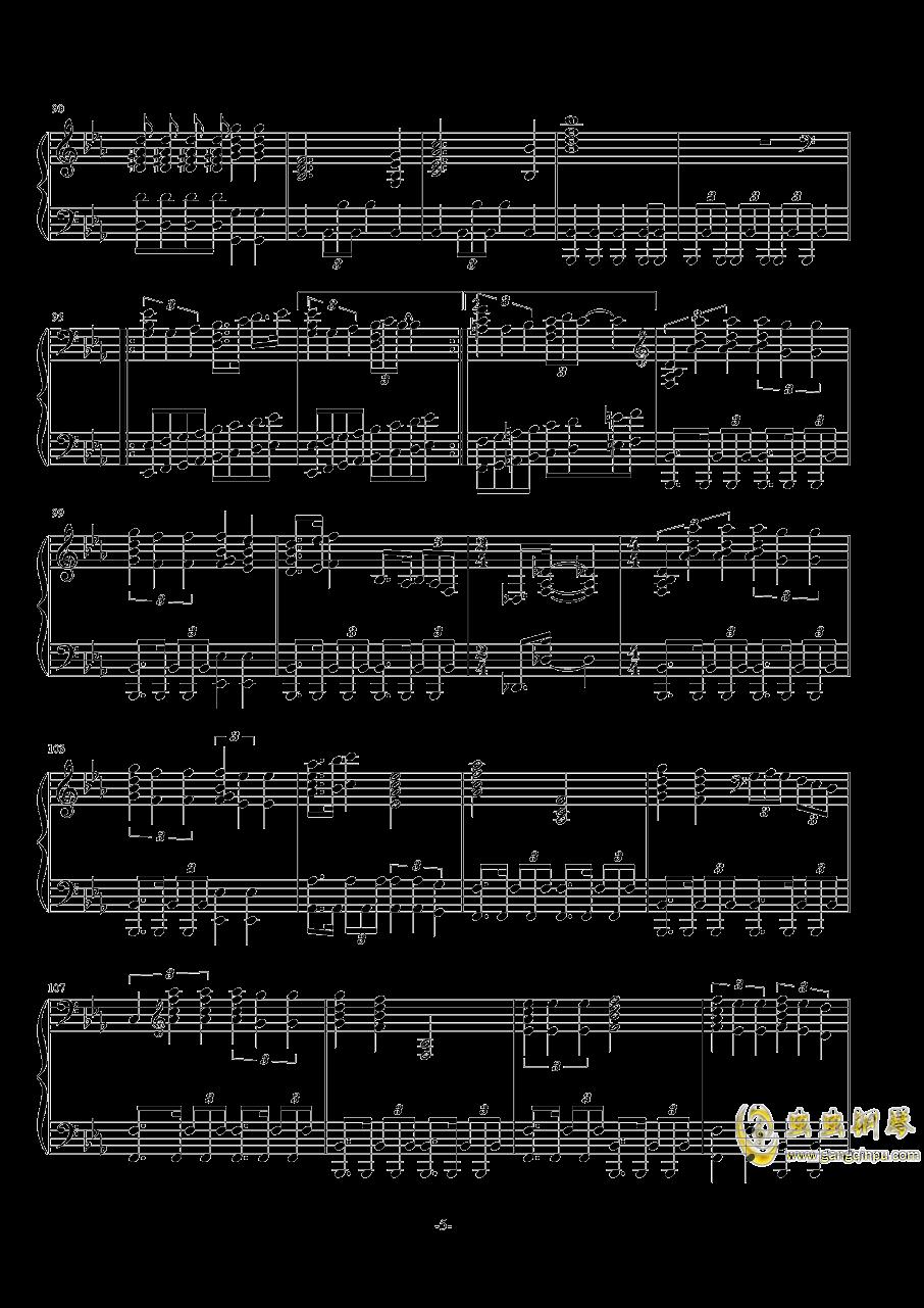 波西米亚狂想曲钢琴谱 第5页