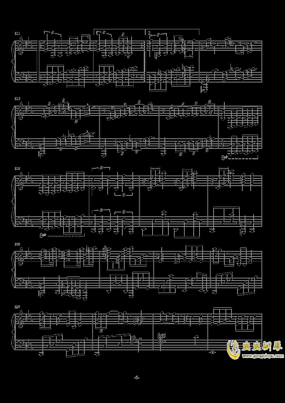 波西米亚狂想曲钢琴谱 第6页