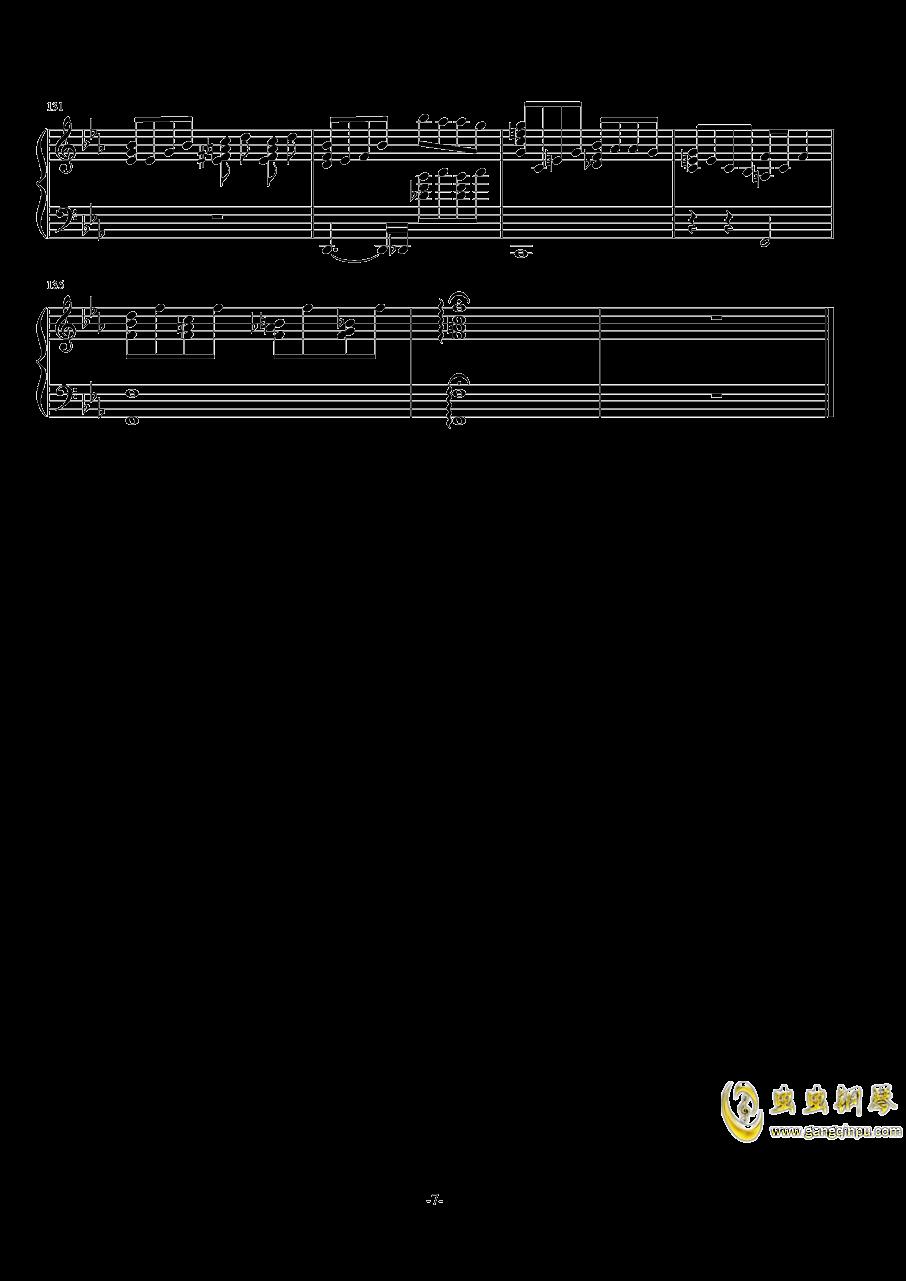 波西米亚狂想曲钢琴谱 第7页