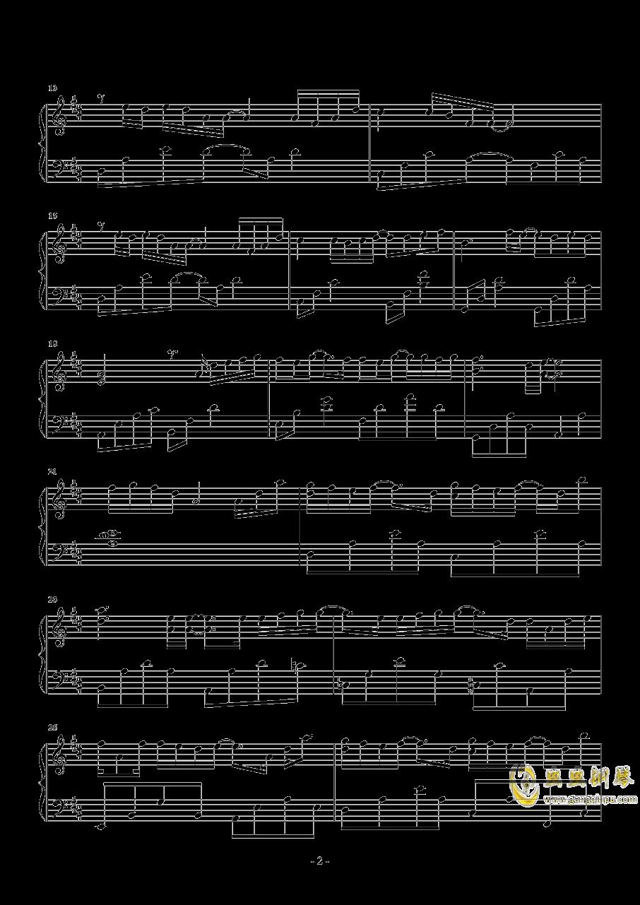 单向箭头钢琴谱 第2页