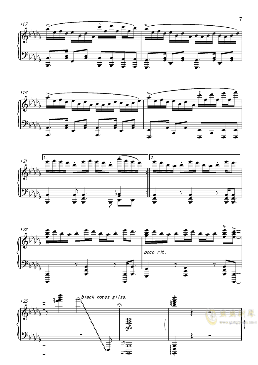 �L来钢琴谱 第7页