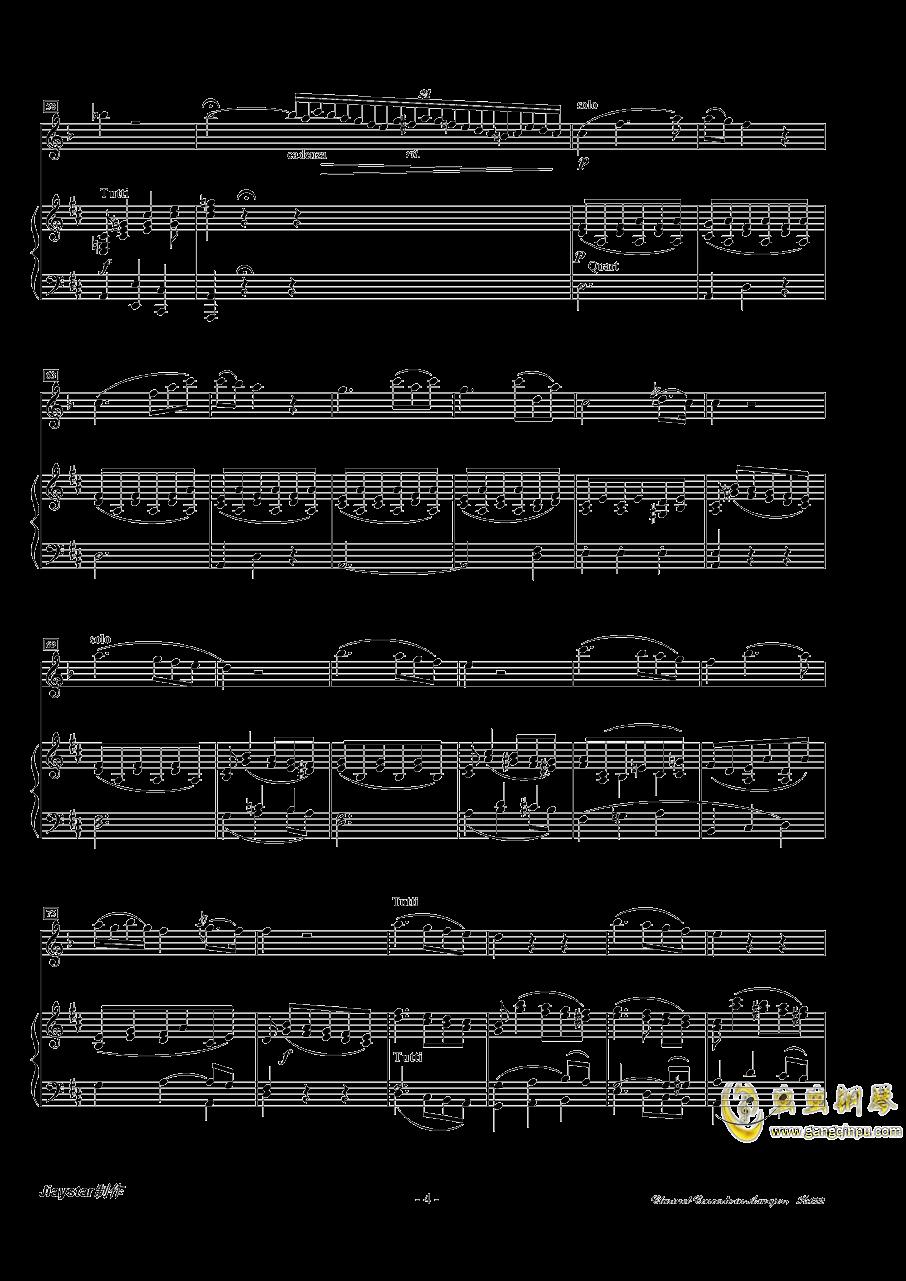 A大调单簧管协奏曲K.622第二乐章(单簧管 ag88环亚娱乐)ag88环亚娱乐谱 第4页