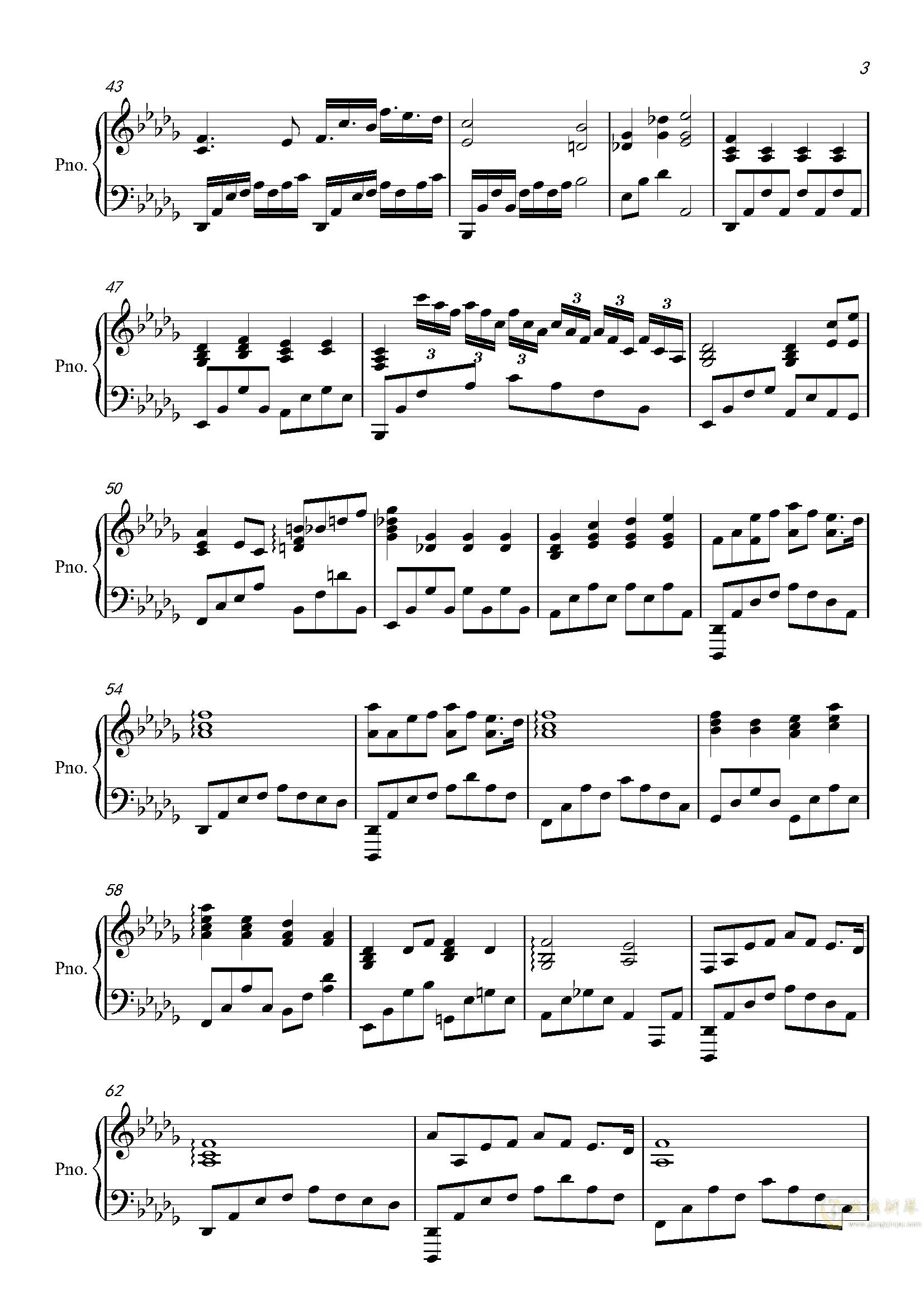 灵魂伴侣钢琴谱 第3页