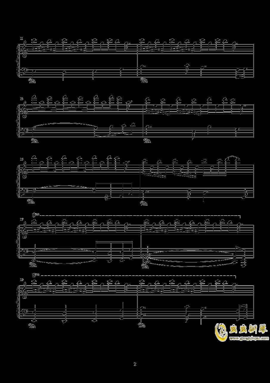脚踏车钢琴谱 第2页