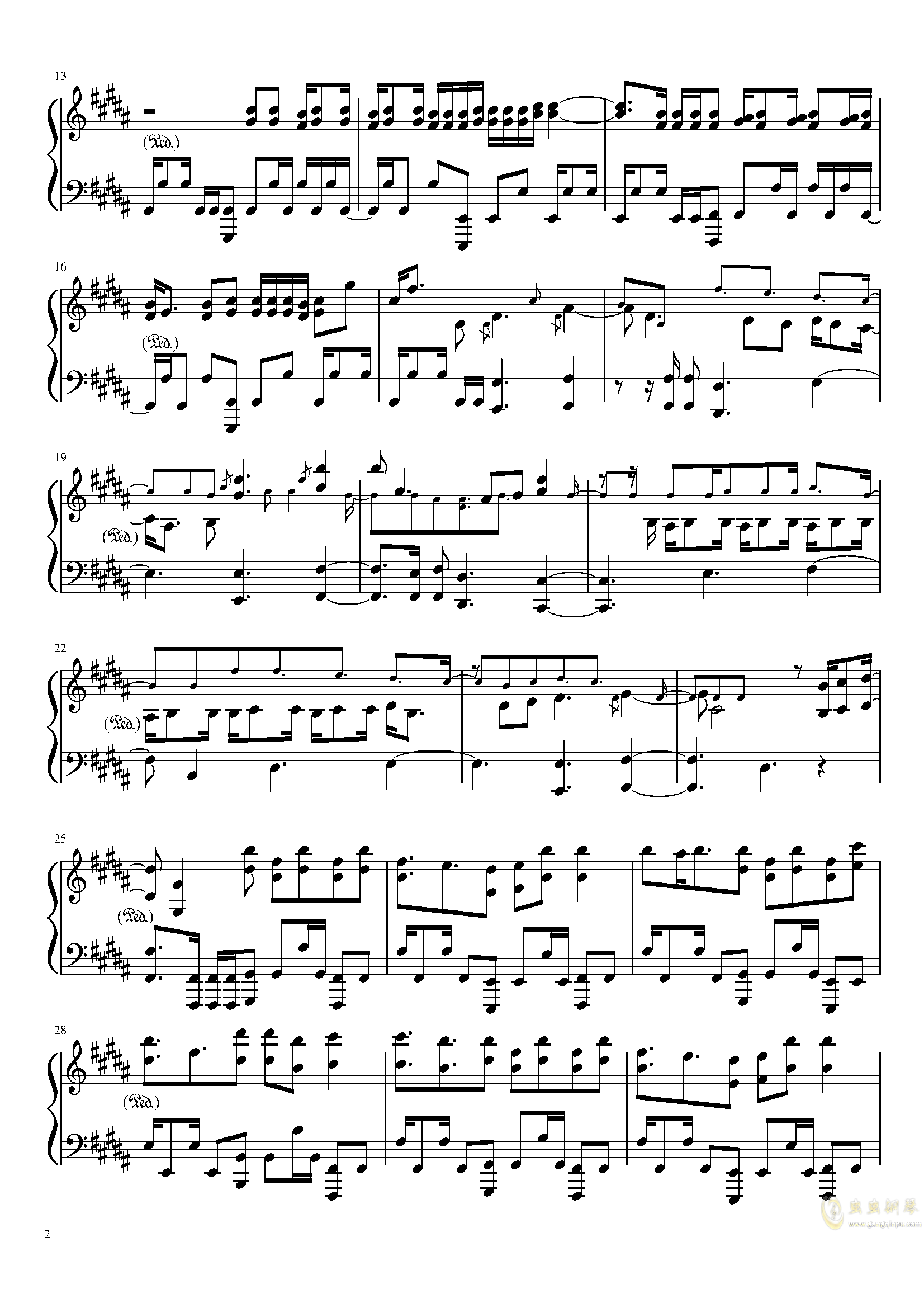 Amazing Trees 钢琴谱 第2页