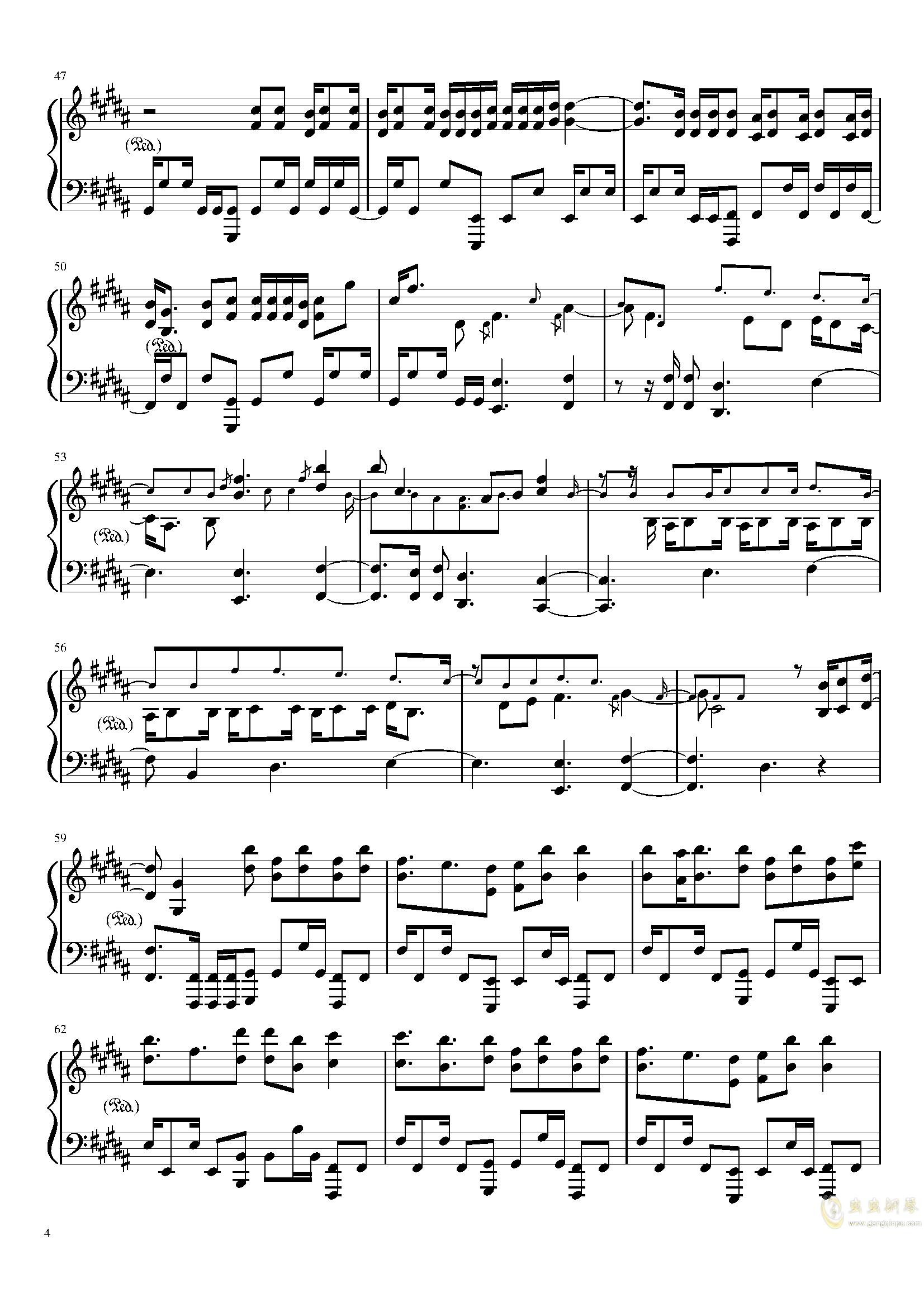 Amazing Trees 钢琴谱 第4页