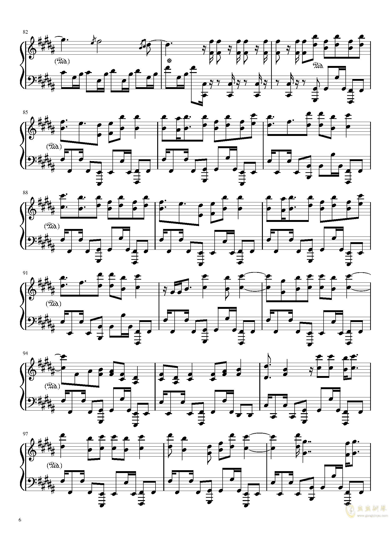 Amazing Trees 钢琴谱 第6页