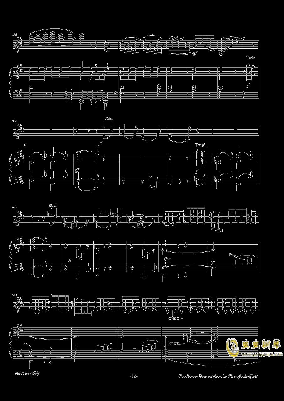 D大调小提琴协奏曲第三乐章钢琴谱 第13页
