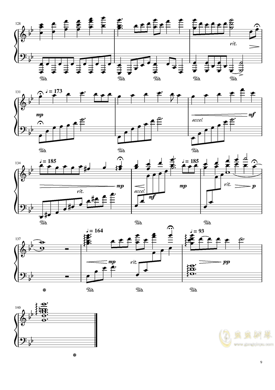 现世的秘术师钢琴谱 第9页