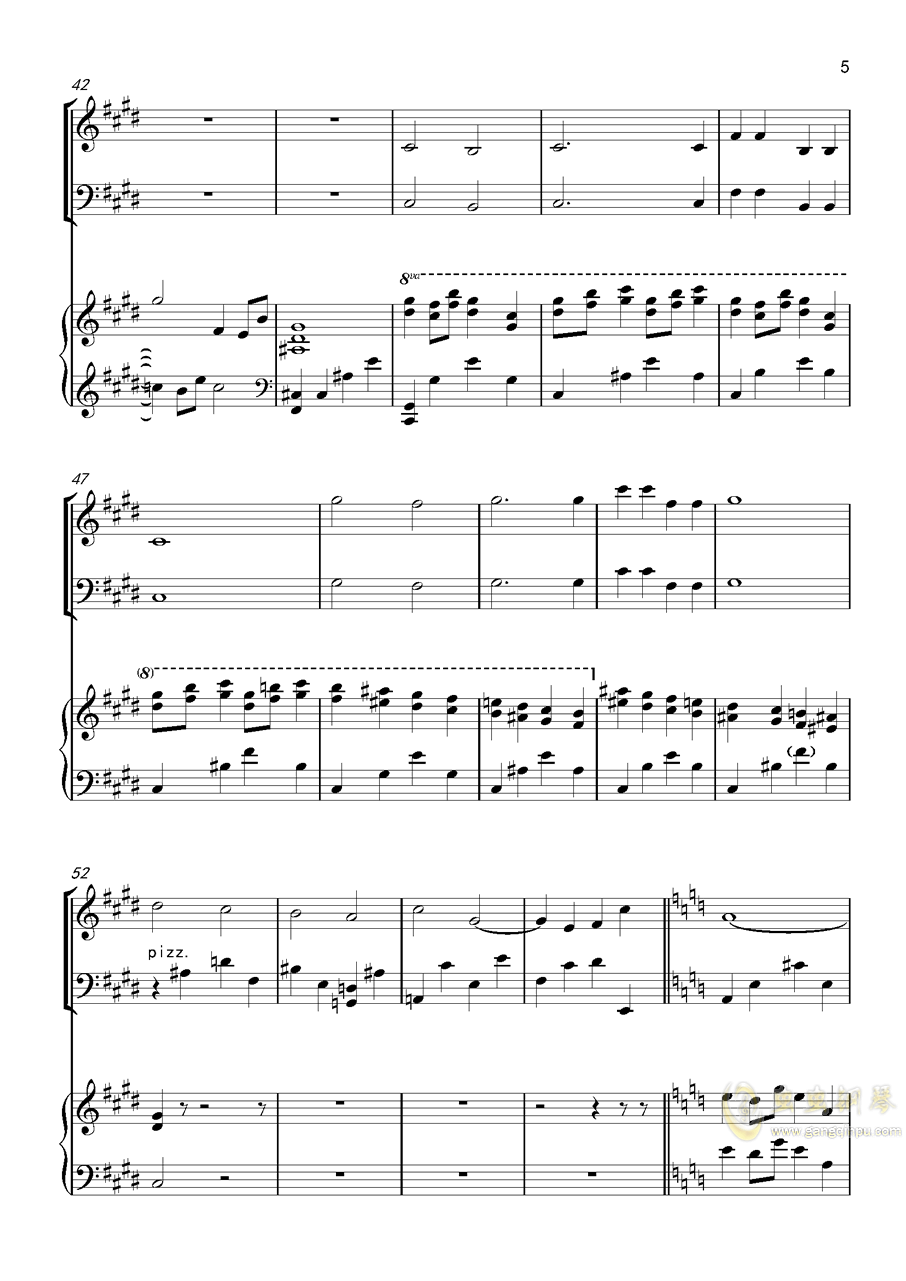 piano trio-lbg钢琴谱 第5页