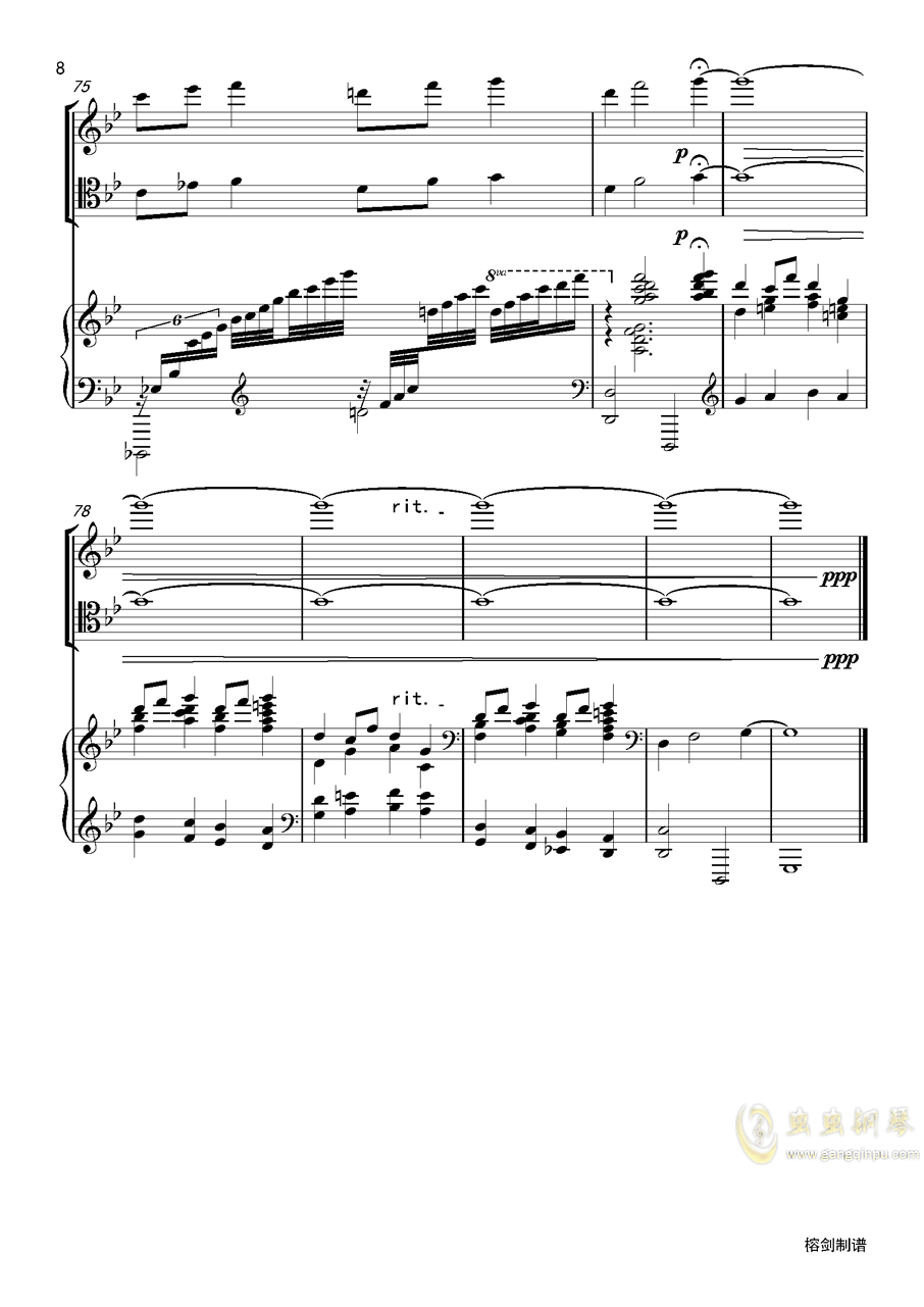 piano trio-lbg�琴�V 第8�