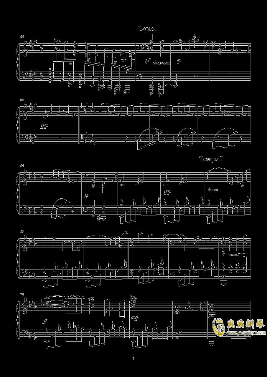 降E大调夜曲钢琴谱 第5页