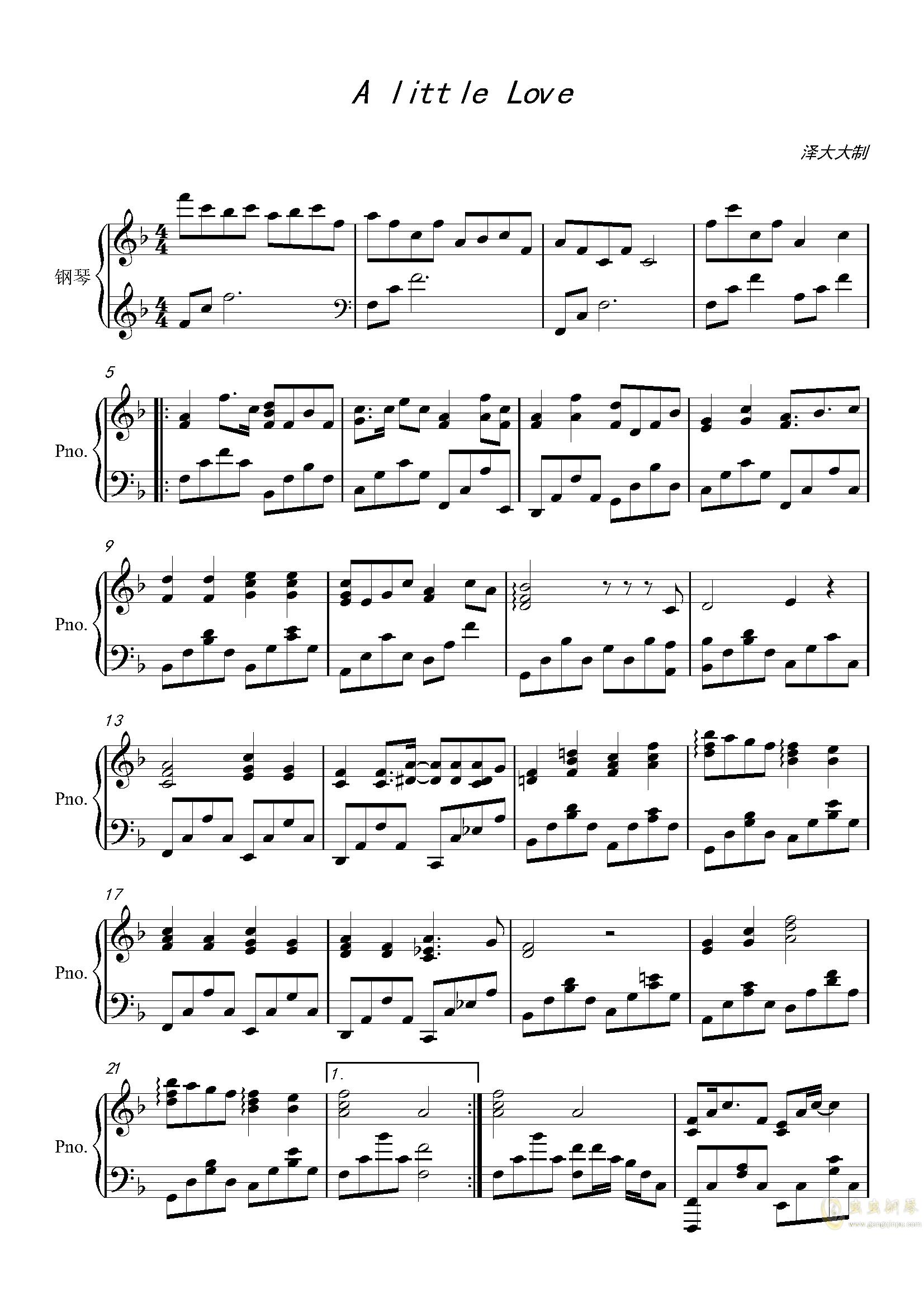 A little Loveag88环亚娱乐谱 第1页