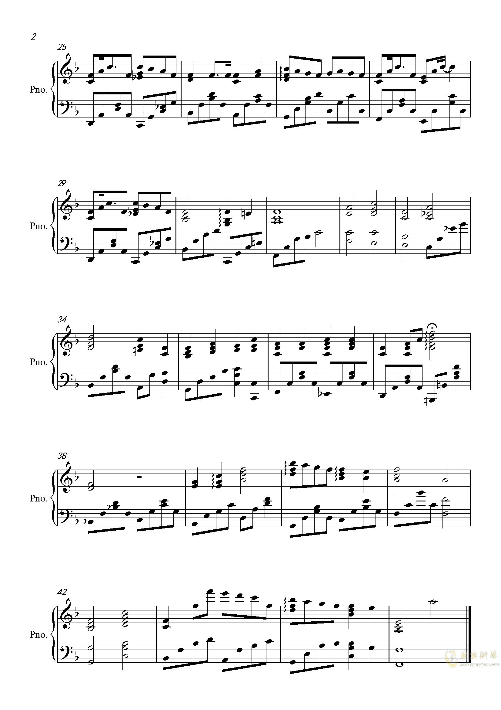 A little Love钢琴谱 第2页