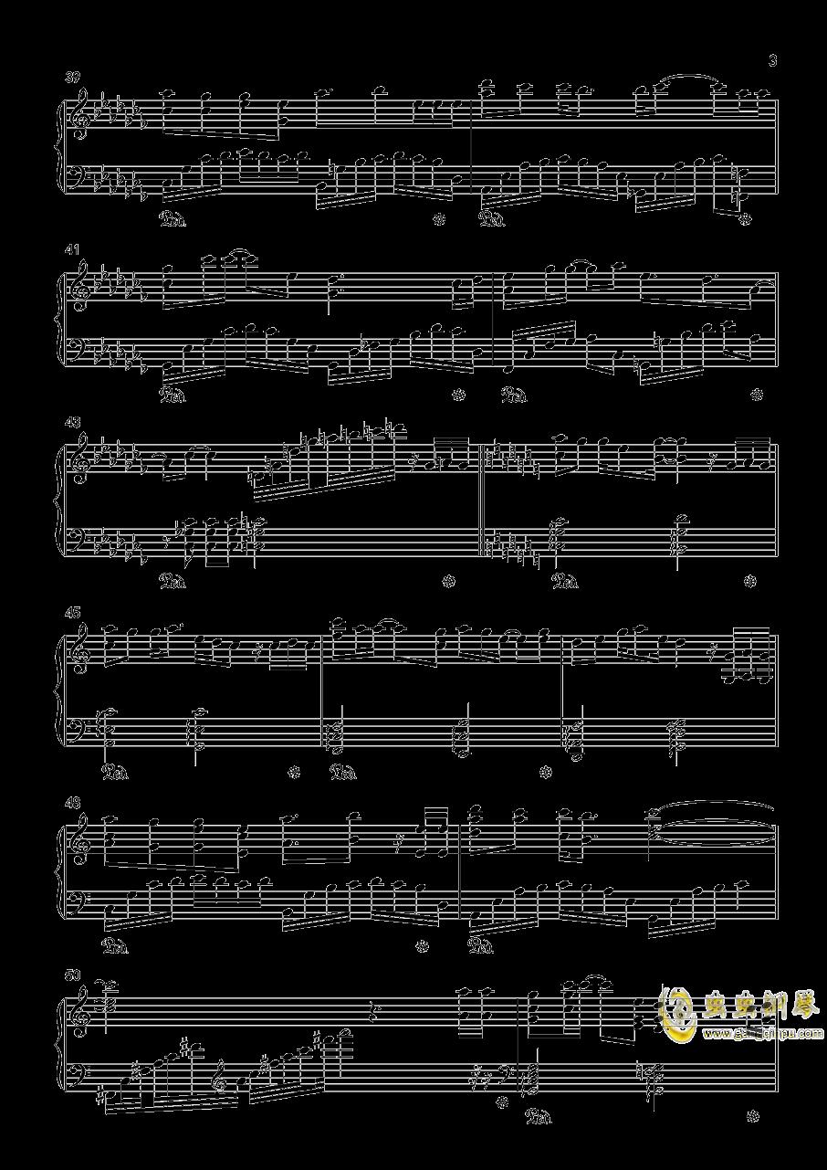 相思夜钢琴谱 第3页