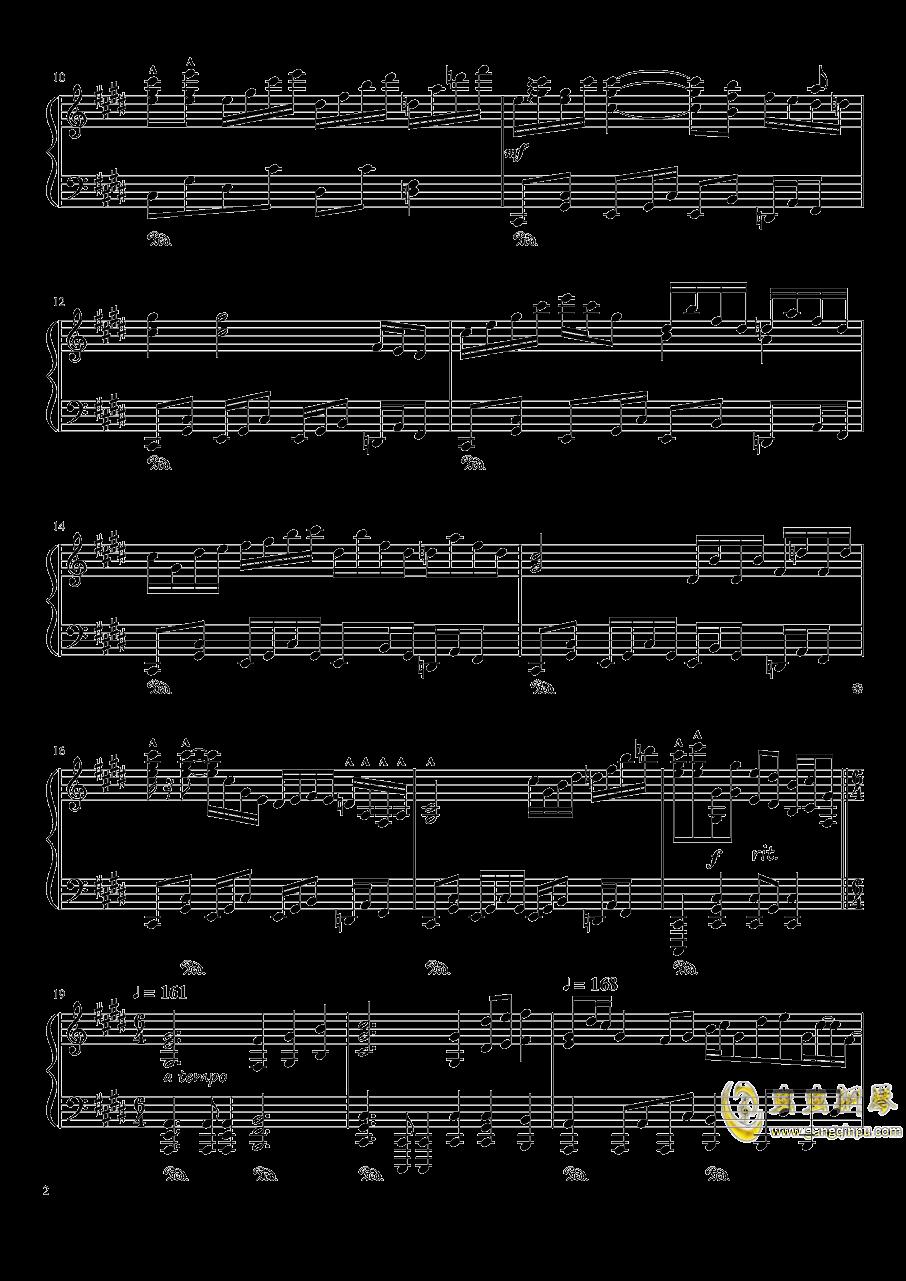 夜が降りてくる ~ Evening Star钢琴谱 第2页