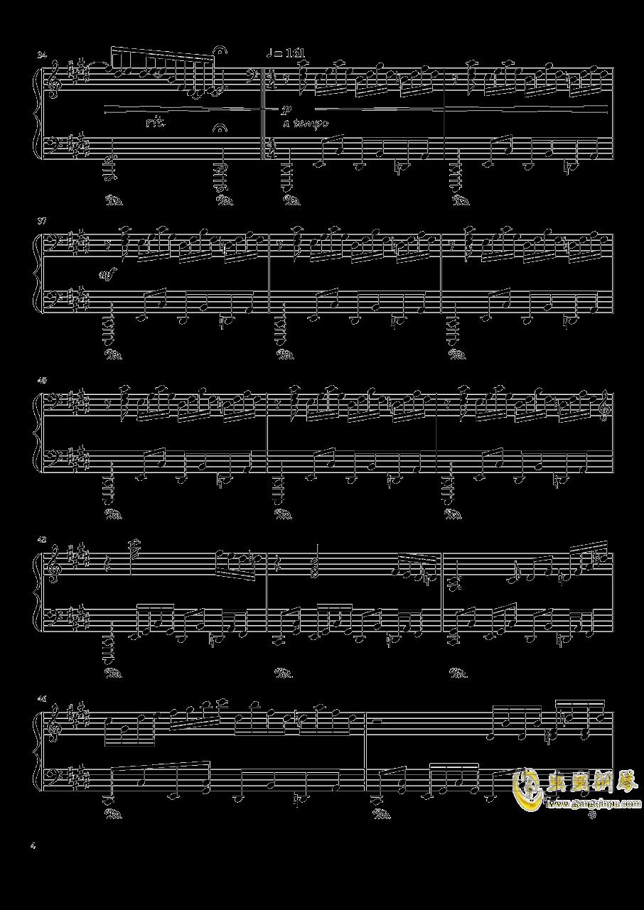 夜が降りてくる ~ Evening Star钢琴谱 第4页